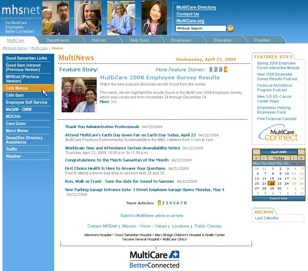 MHS Net Design - Rebranding
