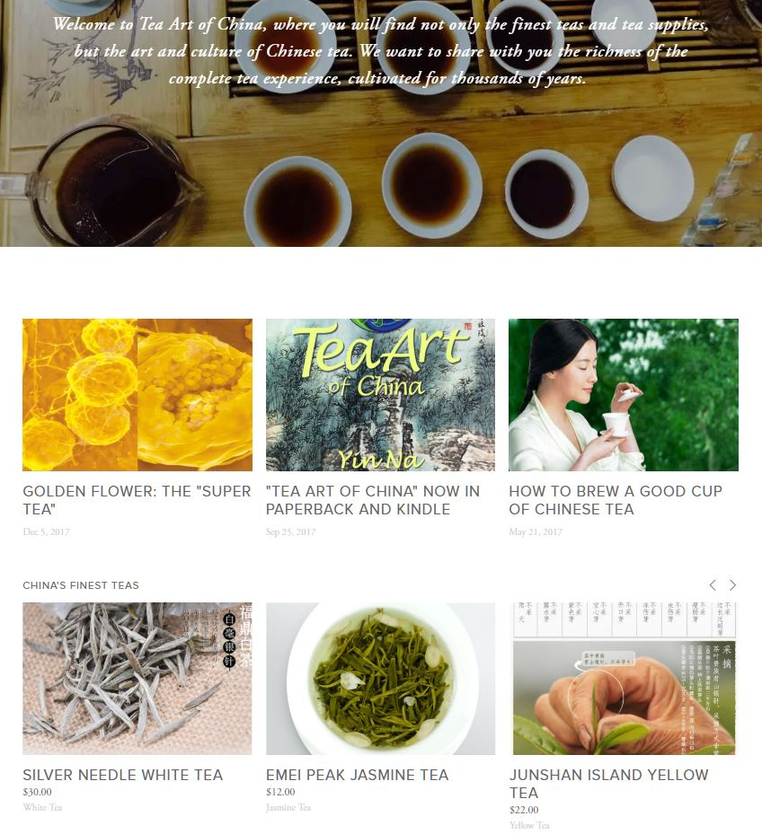 Tea art website